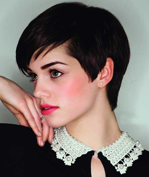 Short Brunette Pixie Cut