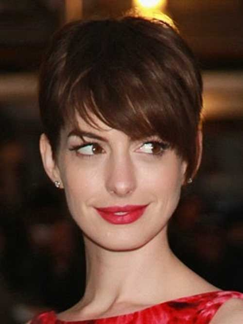 15 Best Anne Hathaway Pixie Cuts Crazyforus