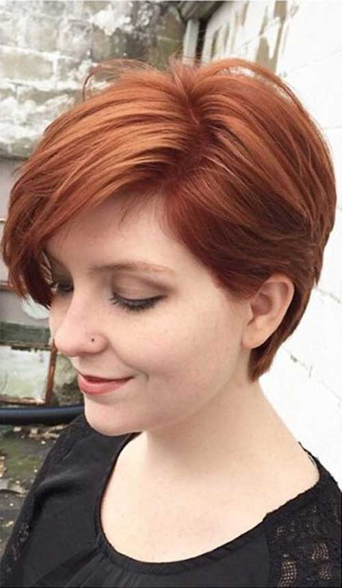 Nice Auburn Long Pixie Cut
