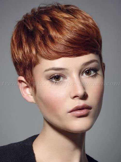 Trendy Auburn Pixie Hair