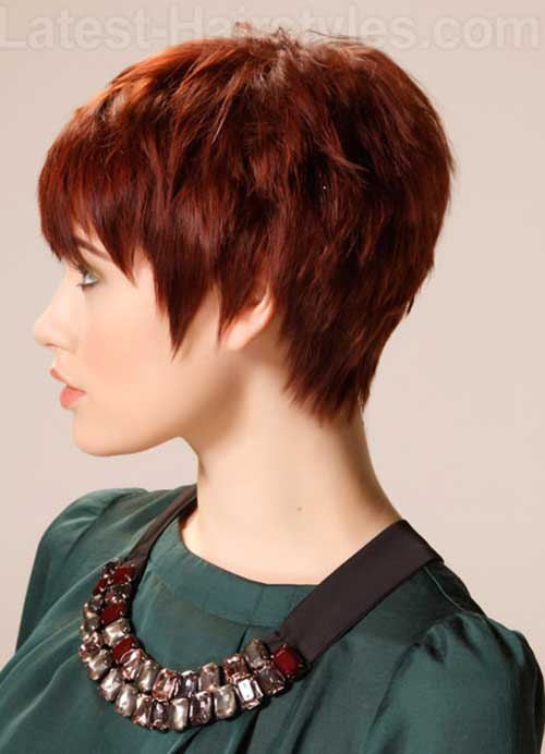 Auburn Straight Pixie Hair