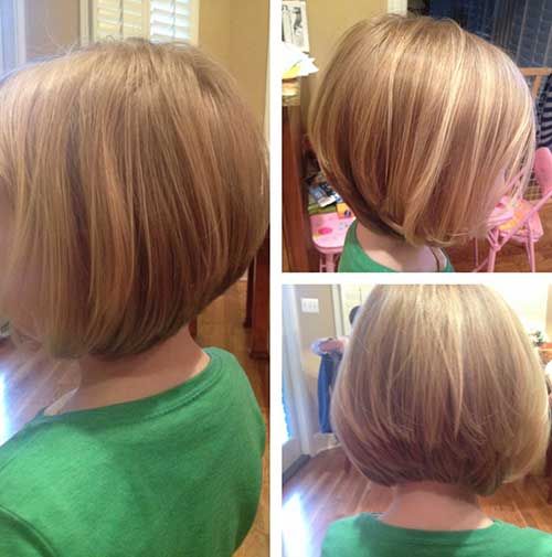 Back View Bob Haircuts for Girls