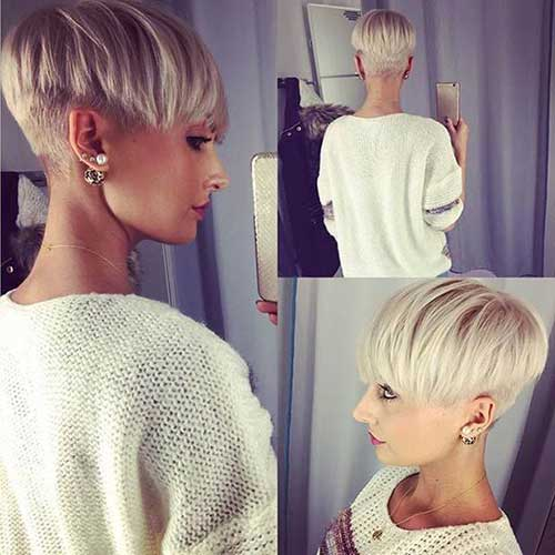 Blond Pixie Cut