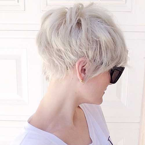 Blonde Nice Pixie Cut Back View Pictures