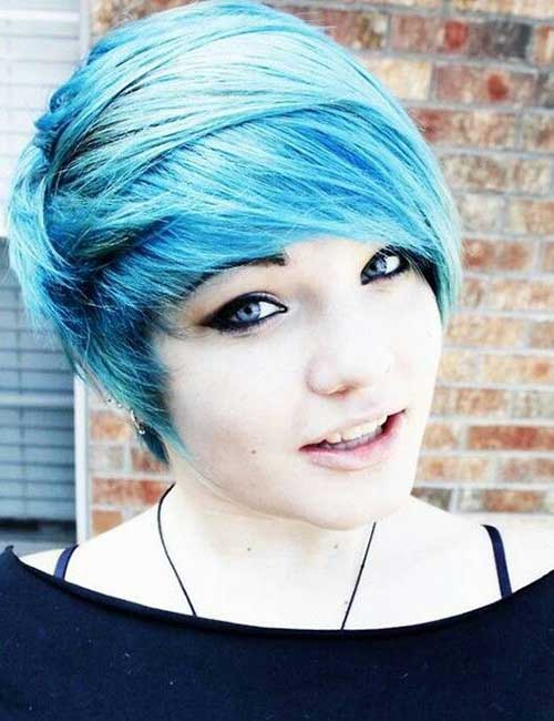 Best Blue Pixie Cut