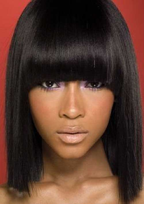 Blunt Bangs Bob Styles for Black Women