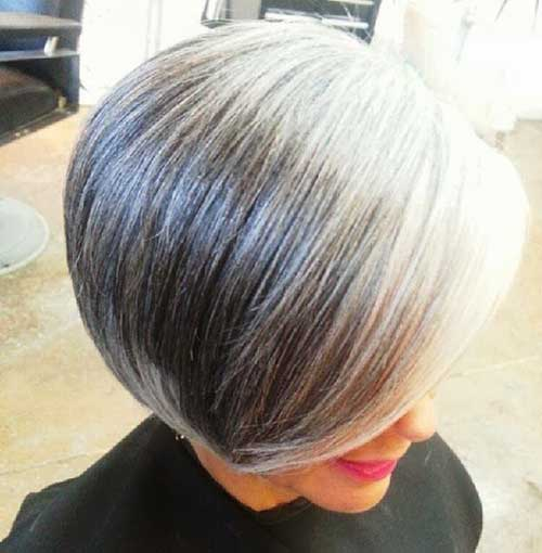 Grey Bob Hairstyle for Older Ladies