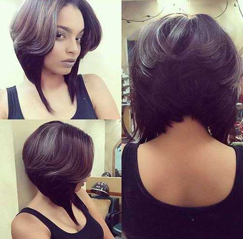 Layered Bob Hairstyles Black Woman