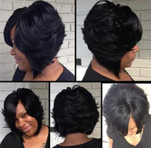 Thick Bob Layered Hairstyle For Black Women