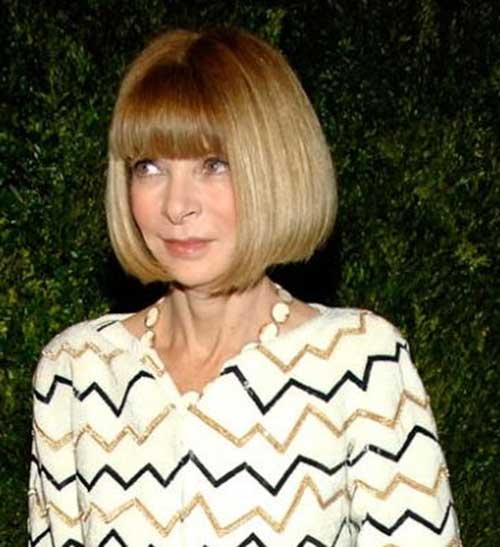 Bob Hairstyles with Bangs for Older Ladies
