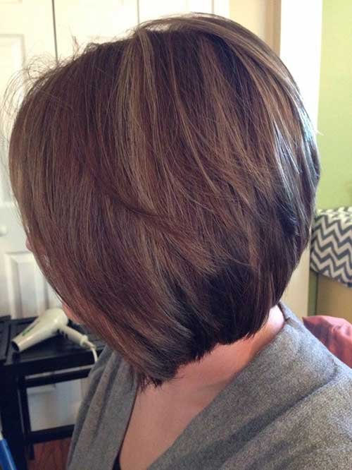 Brown Bob Short Inverted Hairstyles