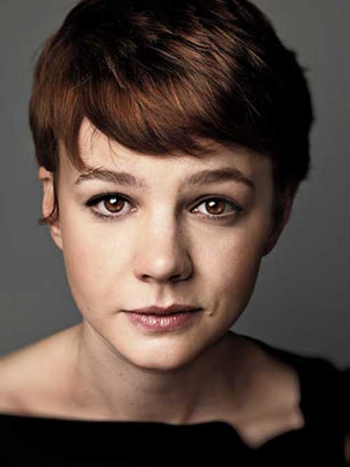 Carey Mulligan Auburn Pixie Cut
