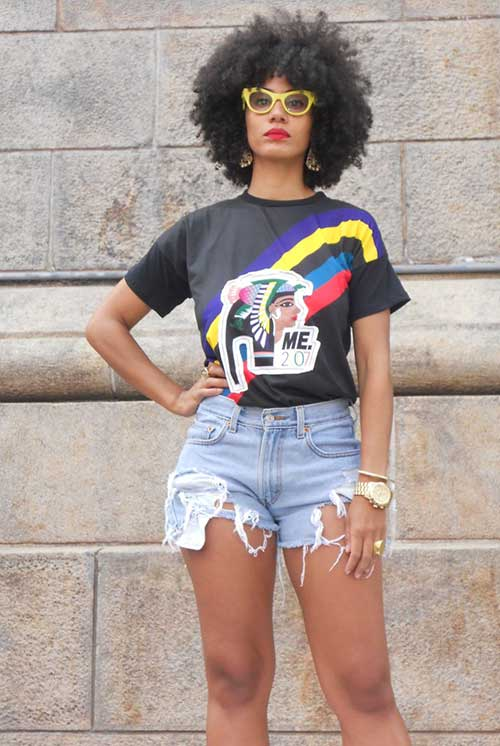 Chic Short Natural Curly Hair Styles