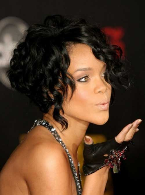 Curly Cute Bob Hairstyles for Black Women