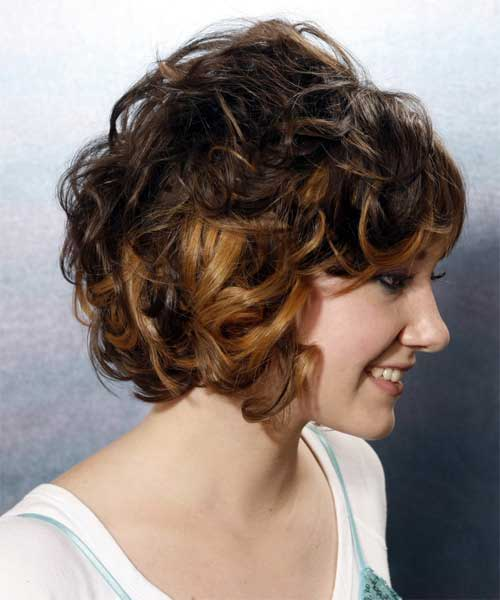 Curly Inverted Short Bob Haircuts 2014