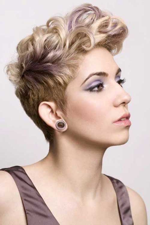 Cool Curly Pixie Hairstyles Undercut