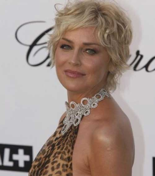 Blonde Curly Pixie Hairstyles for Older Women