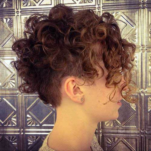 Curly Undercut Pixie Hairstyles