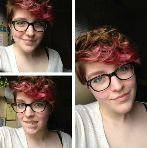 Cool Curly Red Pixie Hairstyles