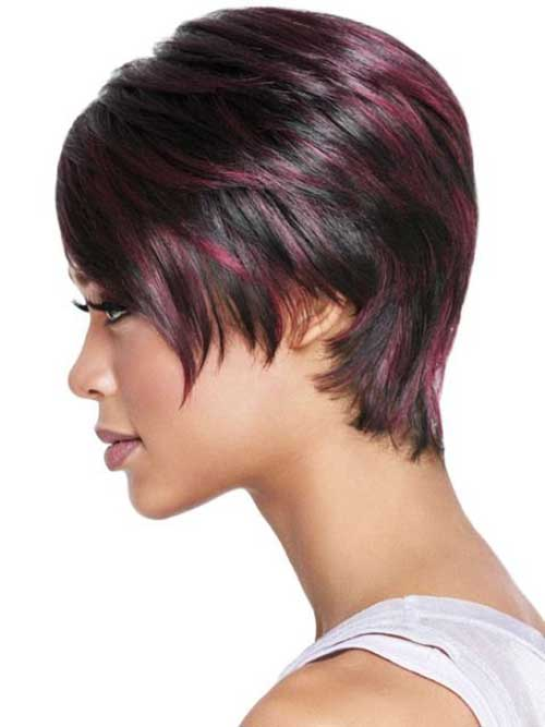 Cute Short Burgundy Hairstyles Black Women