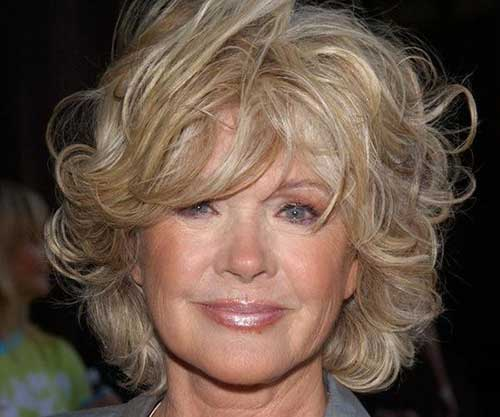 Cute Short Curly Hairstyles for Over 50