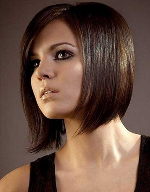 Dark Bob Hairstyles for Fine Straight Hair Type