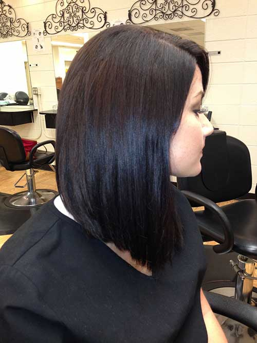 Dark Long Inverted Bob Hairstyles