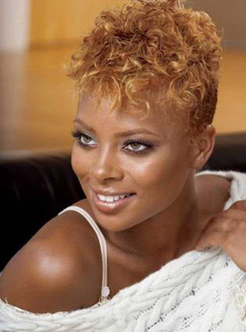 Short Ginger Pixie Natural Hairstyles for Black Women