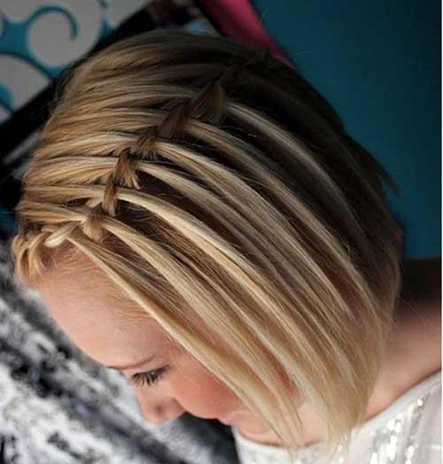 Girls Braided Short Hair Cut