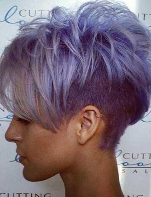 Girls With Short Purple Hair Cuts