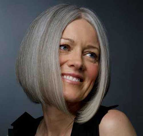 Best Grey Bob Hairstyles for Older Ladies