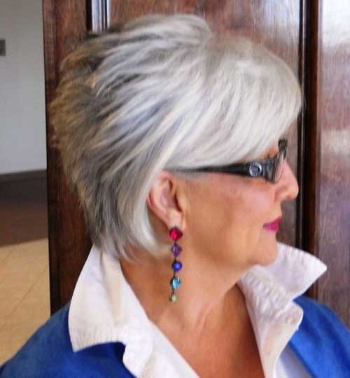Grey Short Haircuts for Women Over 60