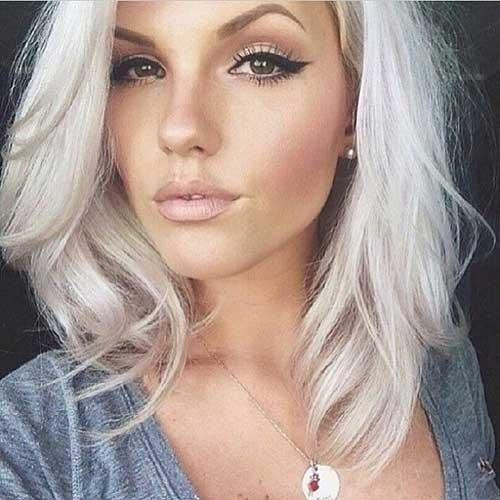 White Blonde Haircuts Short