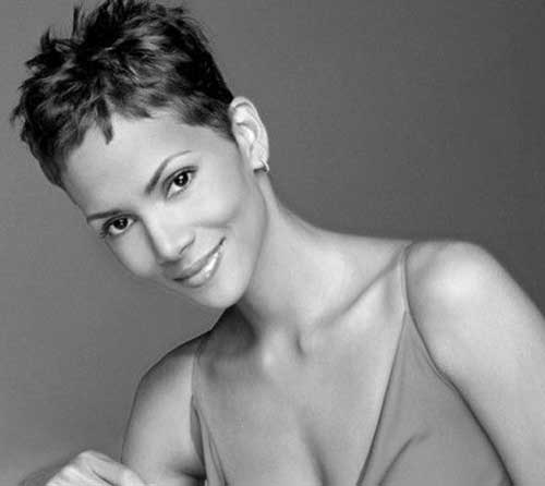 Halle Berry Short Hairstyles for Black Women