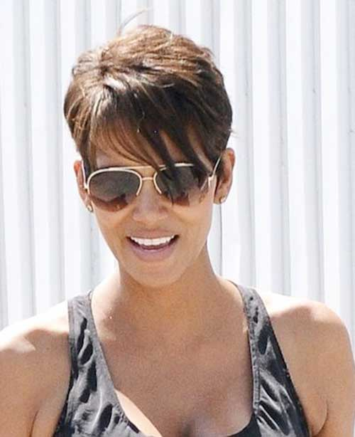 Halle Berry Short Pixie Haircuts with Layers