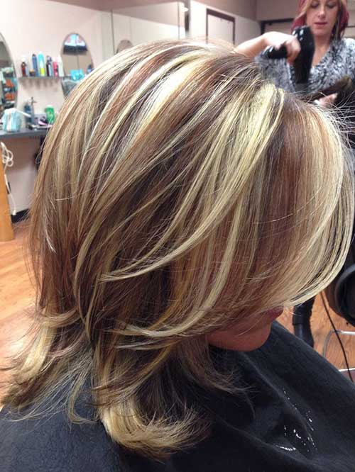 Highlighted Short Haircuts with Layers