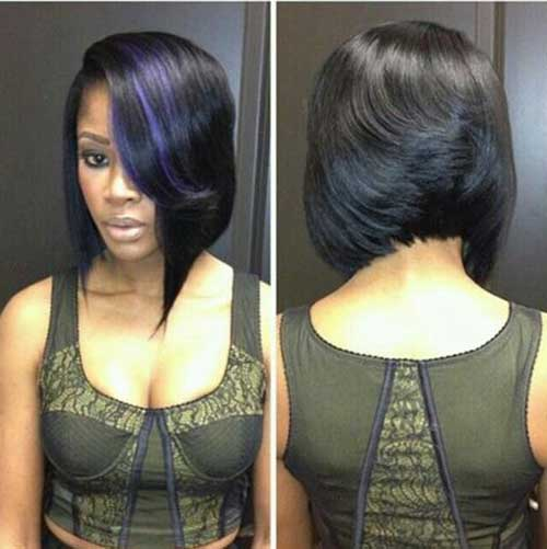 Inverted Bob Hairstyles for Black Women