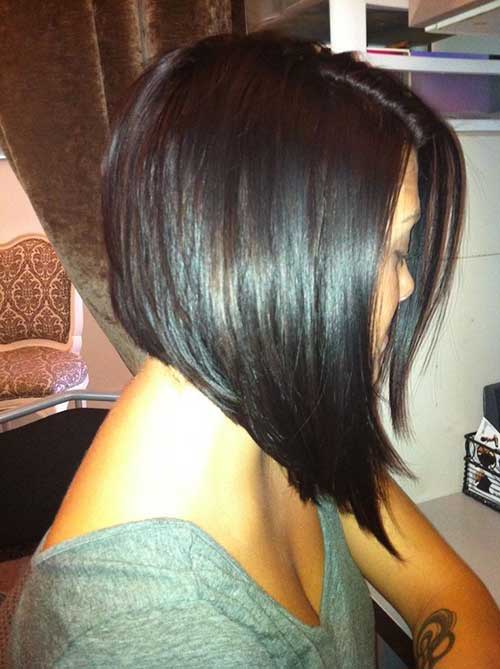 Inverted Short Bob Straight Hair Styles