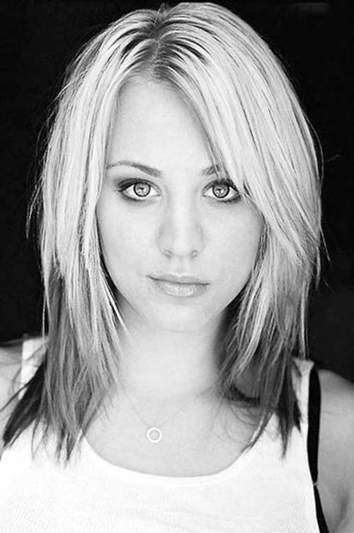 Kaley Cuoco Short to Medium Haircuts