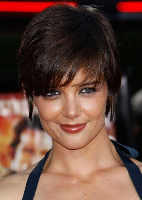 Katie Holmes Straight Pixie Cut