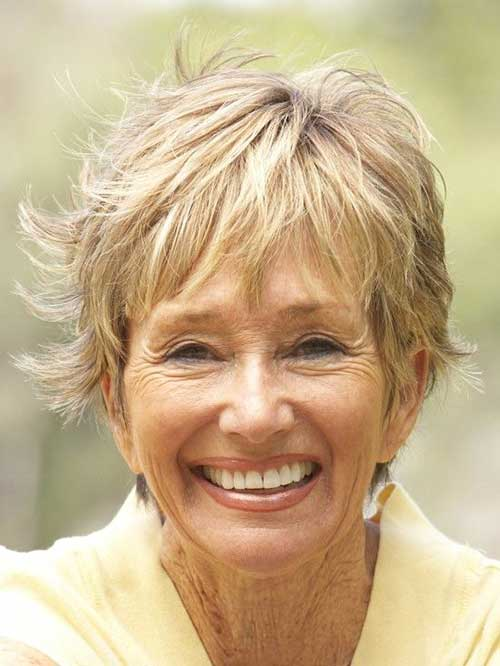 Layered Short Haircuts for Women Over 60