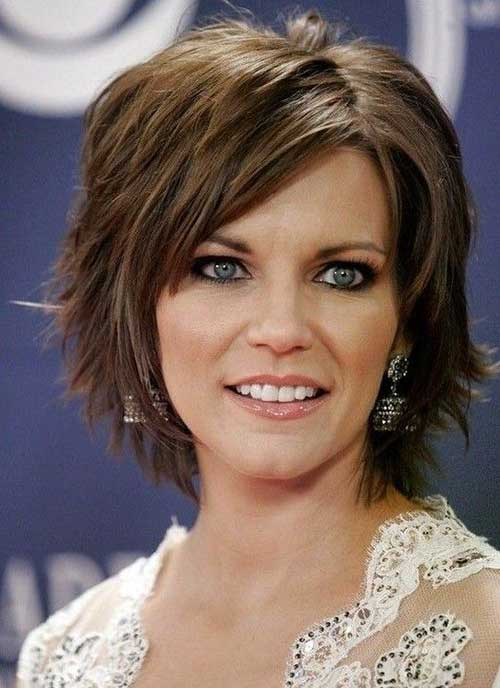 Layered Short Haircuts with Bangs