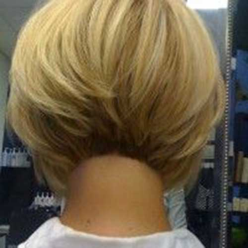 Line Bob Haircuts Back View for Women