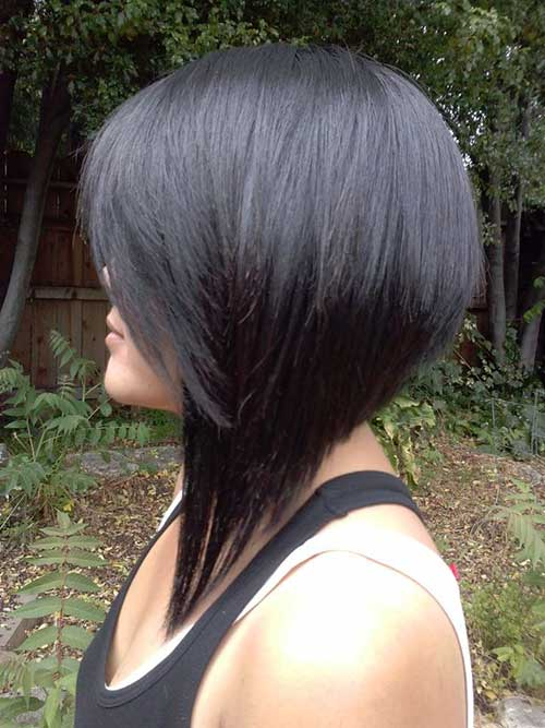 Long Inverted Bob Dark Hairstyles