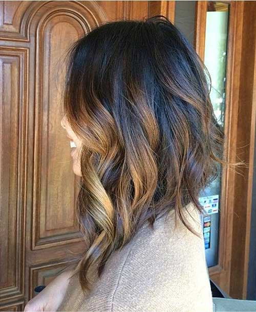 Long Inverted Balyage Bob Haircut