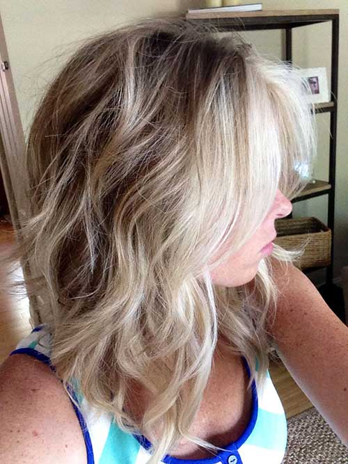 Long Inverted Bob Wavy Hairstyles