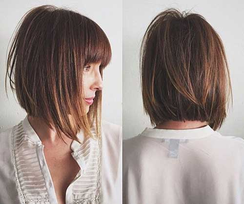 Long Inverted Bob Haircuts with Layers