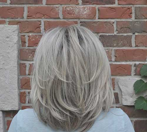 Medium Short Haircut Back for Women
