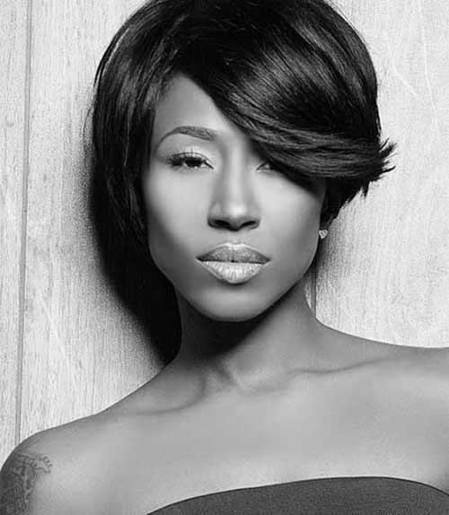 Natural Short Layered Hairstyles for Black Women 2014