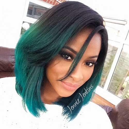 New Green Bob Hairstyles Black Women